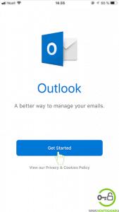 Start Hotmail Mobile app