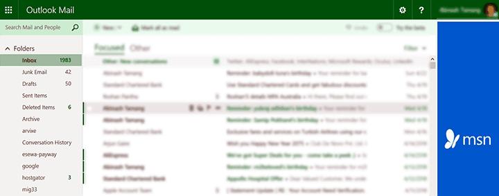 msn hotmail com sign in inbox