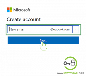 Create new hotmail email id