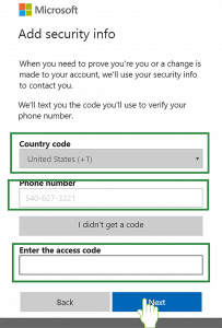 mobile Verification code to get free Hotmail account