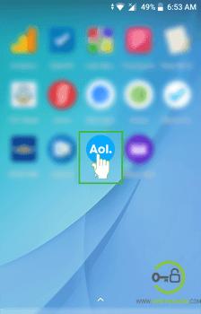 aol mobile app home