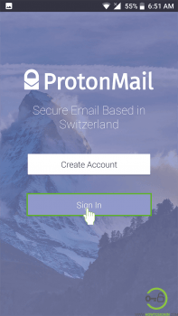 protonmail mobile login