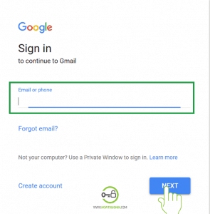 Enter username or phone Gmail account login