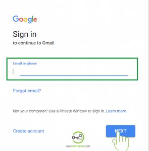 Enter username or phone Gmail account login