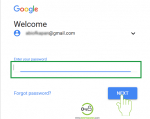 Password for Gmail account sign in