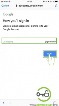 choose new gmail username Gmail sign up
