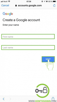 Gmail sign up from mobile