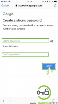 Create strong password new Gmail