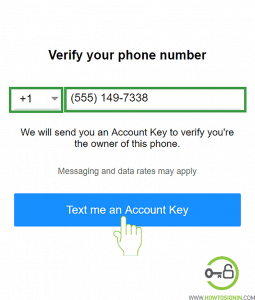 Yahoo Sign up Phone verification