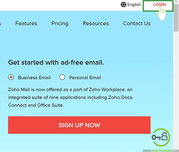 Zoho email login