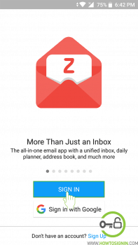 zohomail login from mobile app