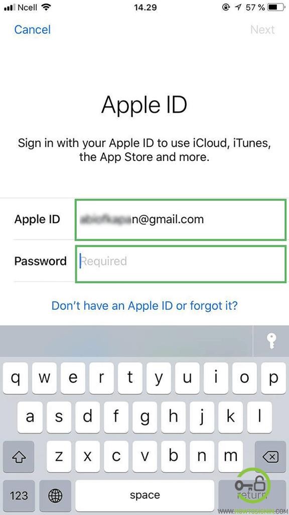 apple id login details