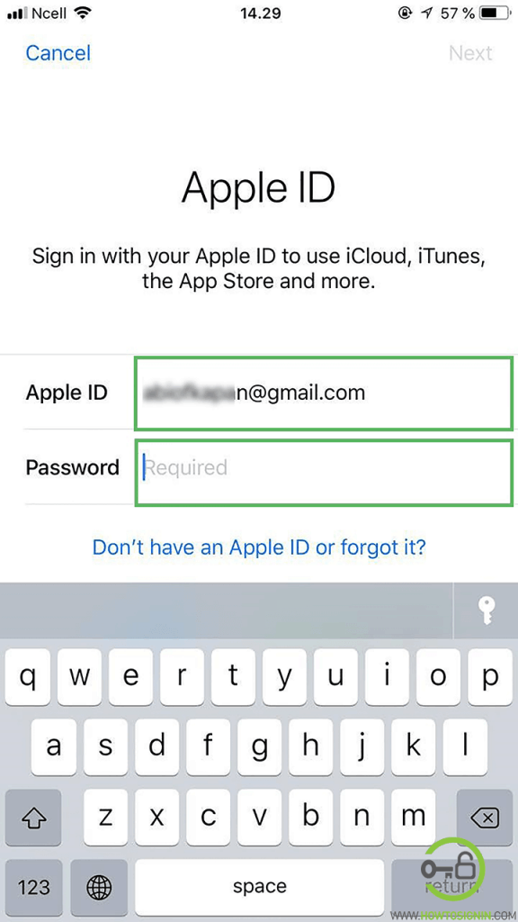 apple id sign in username