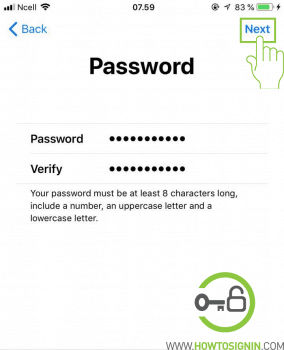 create password for new apple id