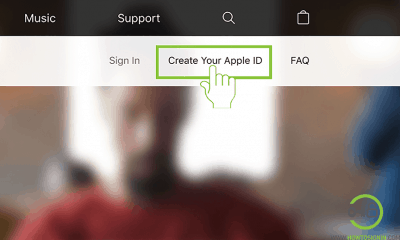 apple id sign up home page