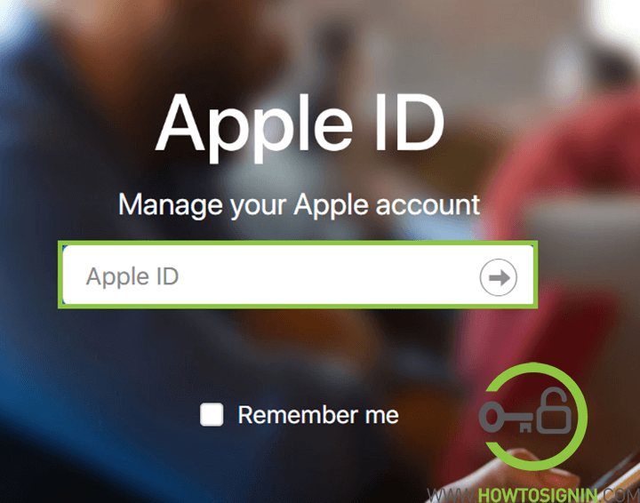 Apple id login from browser