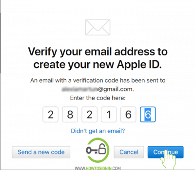 new apple id sign up from browser