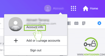 yahoo account info