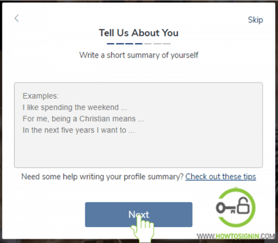 christian mingle tell about yourself