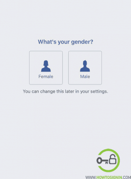 New Facebook choose gender