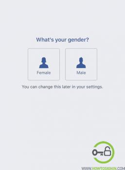 New Facebook choose gender