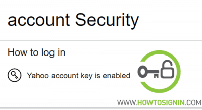 yahoo account key enabled