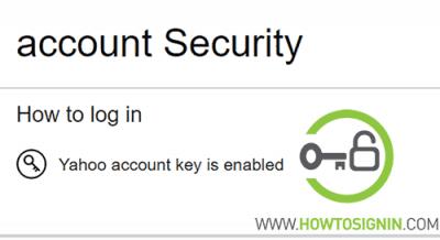 yahoo account key enabled