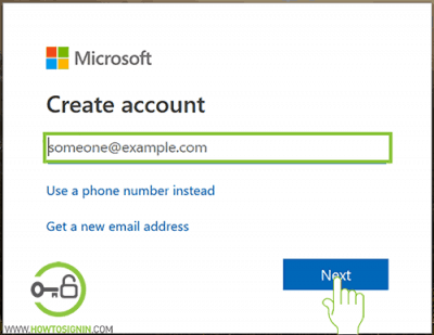 enter new email for microsoft account