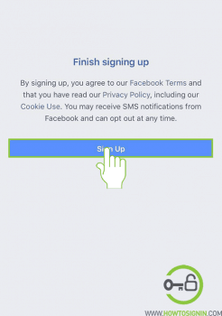 create new facebook account done