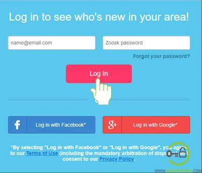 Zoosk login web browser