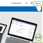 Microsoft account login page