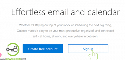 Outlook login from web