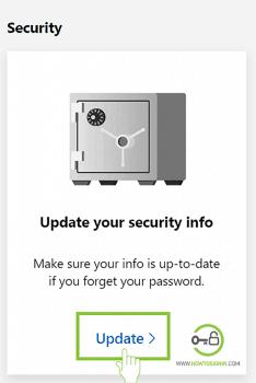 update microsoft account security