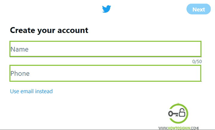 Create Twitter Account now | Sign up for new Twitter Account