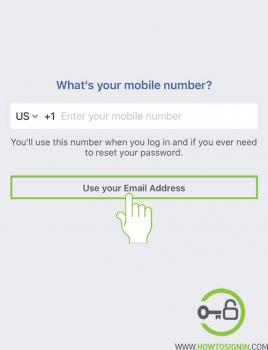 Create facebook with email