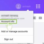 Change Yahoo password