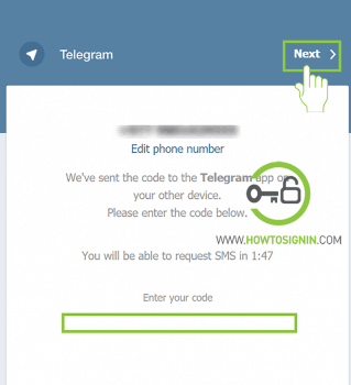 telegram web login activation code