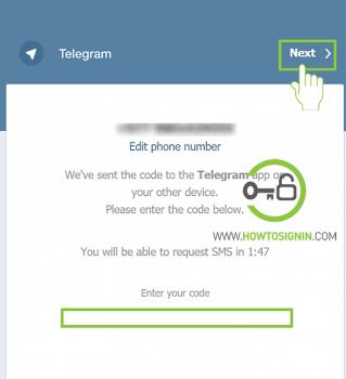 telegram web login activation code