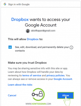 allow dropbox to access
