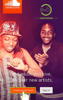 soundcloud app sign up from mobile app