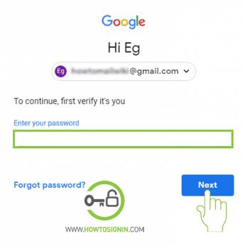 enter gmail password change gmail password