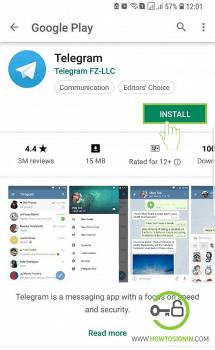 download telegram android