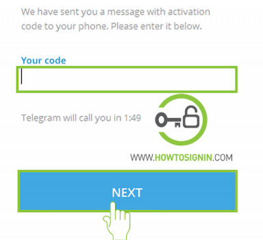 telegram sign up activation