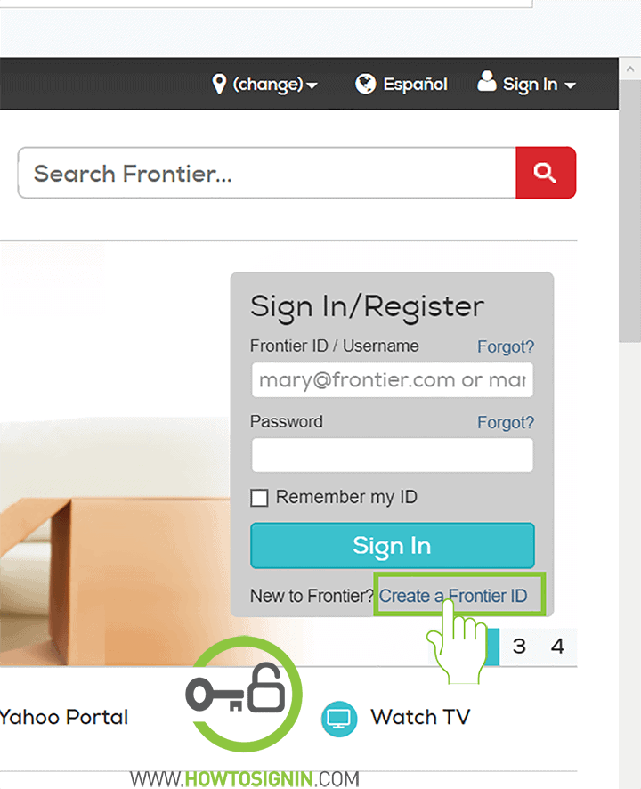 frontier mail sign up home page