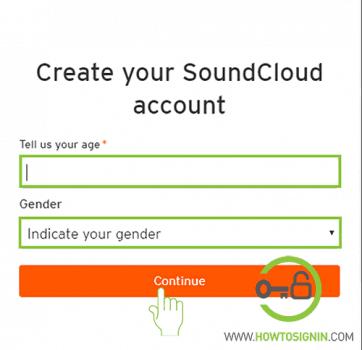 gender choose soundcloud sign up