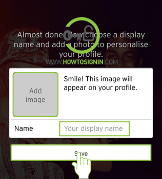 choose display image soundcloud sign up from mobile app