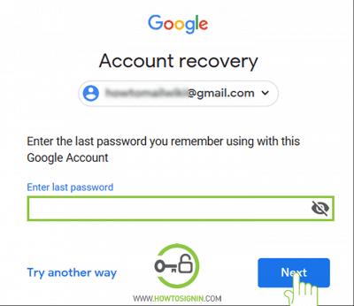 Gmail password reset via old password