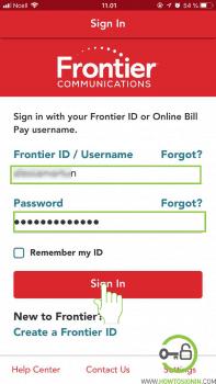 Frontier mobile login