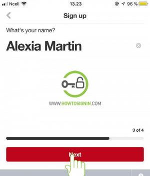Pinterest sign up enter name
