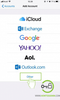 add other mail in iphone